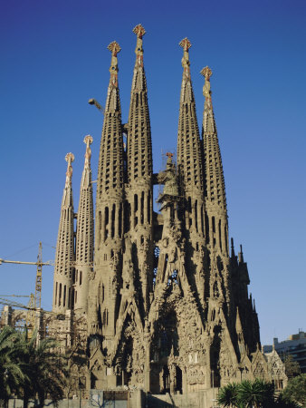 la sagrada familia gaudi cathedral barcelona catalonia cataluna catalunya spain europe. Black Bedroom Furniture Sets. Home Design Ideas