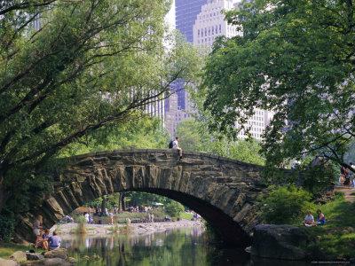 The Pond, Central Park, New York, USA Photographic Print by I Vanderharst