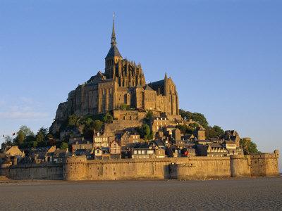 Mont St.Michel at Dusk, La Manche Region, Basse-Normandie, France Photographic Print by I Vanderharst