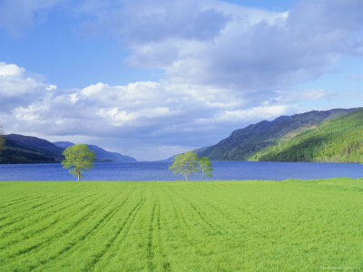Loch Ness from the Western End, Highlands Region, Scotland, UK, Europe Photographic Print by I Vanderharst