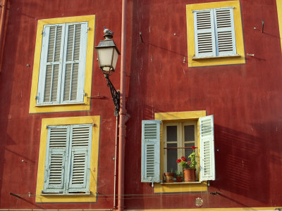 Shuttered Windows in the Old Town, Nice, Provence, France Photographic Print by I Vanderharst