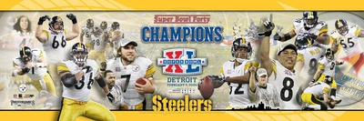Super Bowl XL Steelers Champions. Panoramic Photo Photo