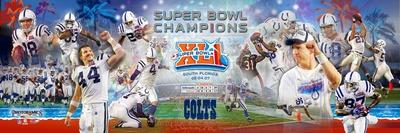 Super Bowl XLI Champion Colts Panoramic Photo Photo