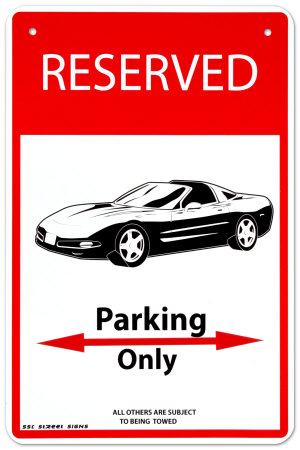 Reserved Tin Sign