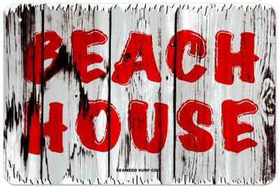 Beach House Tin Sign