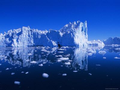 Icebergs from the Icefjord, Ilulissat, Disko Bay, Greenland, Polar Regions Photographic Print by Robert Harding