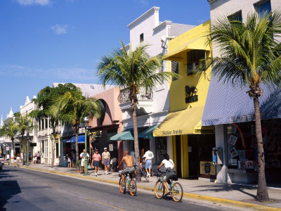 Street Scene on Duval Street, Keywest, FL