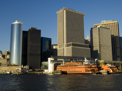 Staten Island Ferry, Business District, Lower Manhattan, New York City, New York, USA Photographic Print by Robert Harding