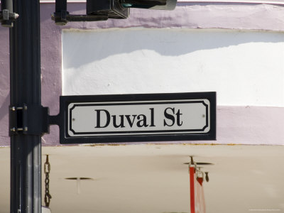 Duval Street Sign, Key West, Florida, US