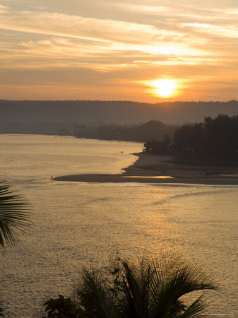Sunset Over the Tiracol River, Goa, India Photographic Print by Robert Harding