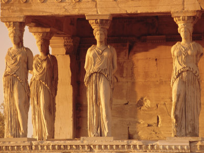 Caryatids Portico, Figures of the Six Maidens, Erechtheion, Athens, Greece, Europe Photographic Print by Guy Thouvenin