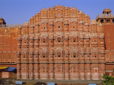 The Palace of the Winds, Hawa Mahal, Jaipur, Rajasthan, India, Asia Photographic Print by Bruno Morandi