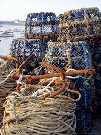 Lobster Pots, Normandy, France Photographic Print by Michael Busselle