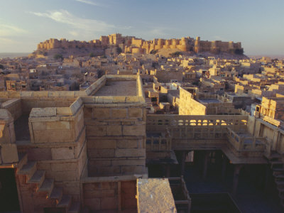 View of Jaisalmer Fort, Built in 1156 by Rawal Jaisal, Rajasthan, India Photographic Print by John Henry Claude Wilson