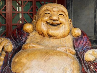 Laughing Buddha, Tanzhe Temple, Beijing, China, Asia Photographic Print by Jochen Schlenker