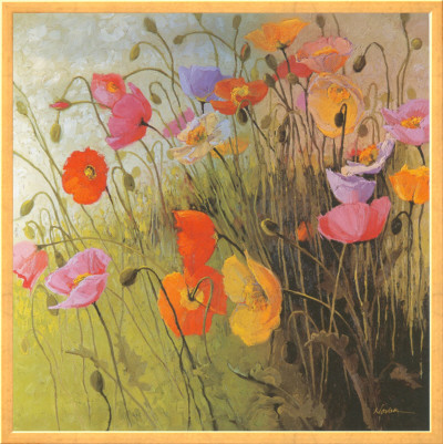 Meadow Dance Framed Canvas Print by Shirley Novak