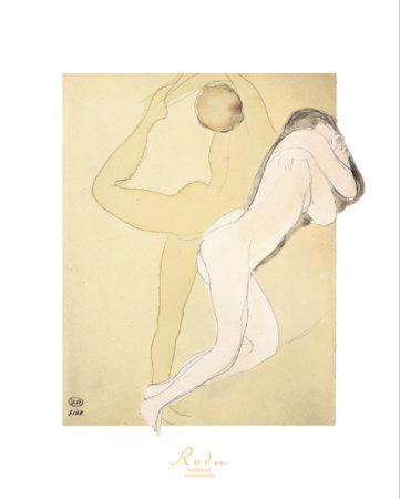 Couple Feminine Prints by Auguste Rodin