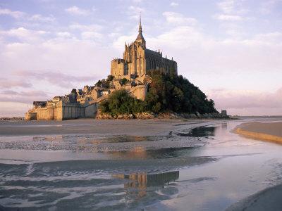 Mont Saint Michel (Mont-St. Michel), Manche, Normandie (Normandy), France Photographic Print by Bruno Morandi