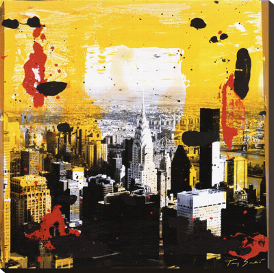Yellow City Reproduction transfre sur toile