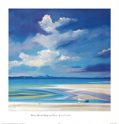 Silver Sands, Eigg and Rhum Affischer av Daniel Campbell