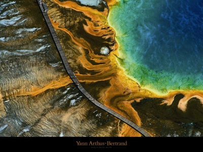 Source Chaude du Grand Prismatic, Yellowstone Art Print