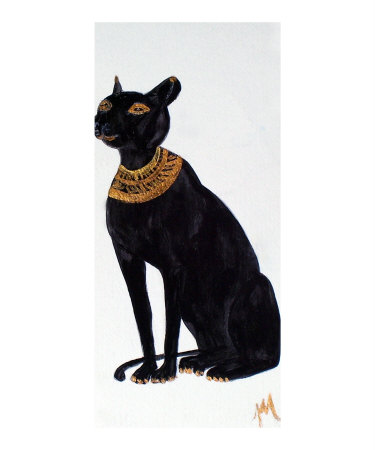 Bast, Egyptian Cat Goddess, Goddess of Love Giclee Print