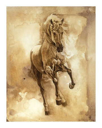 Heste i barokstil, serie III: III Giclée-tryk