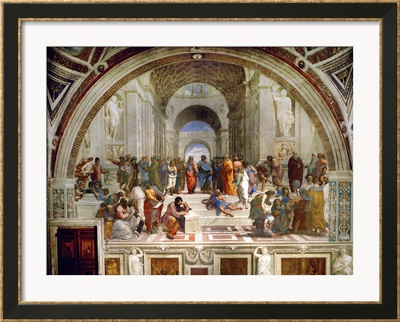 School of Athens by Raphael painting philosophers.