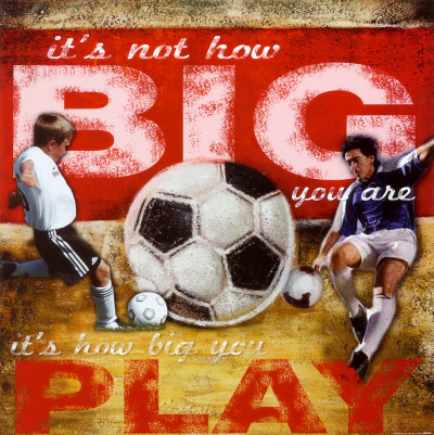 Big Play: Soccer Art Print