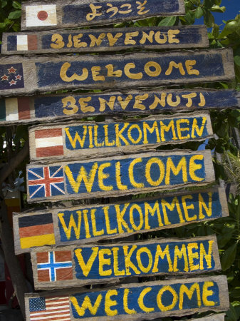 Welcome Signs, Laem Tong Beach, Phi Phi Don Island, Thailand, Southeast Asia, Asia Photographic Print