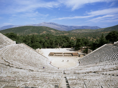 Ancient Greek Theatre, Epidaurus, Unesco World Heritage Site, Peloponnese, Greece, Europe Photographic Print by Oliviero Olivieri