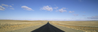 Long Straight Road, Patagonia, Border Area Argentina and Chile, South America Photographic Print by Gavin Hellier