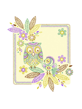Friendly Owl Batik Photo