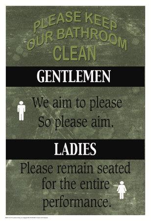Bathroom Poster by Marilu Windvand