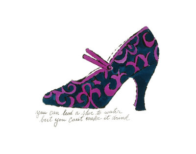 Blue and Pink Shoe, c.1955 Art Print