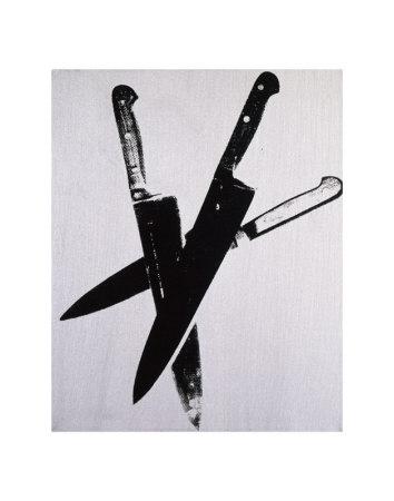 Knives, c.1981-82 (three black on cream) Poster di Andy Warhol