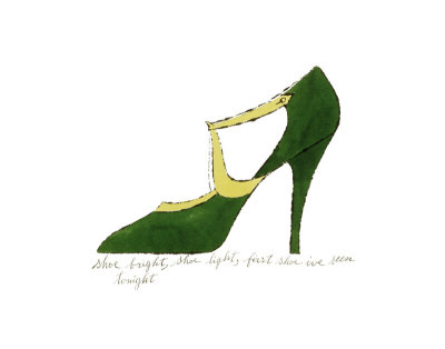 Shoe, c.1955 (Green and Yellow) Kunsttryk