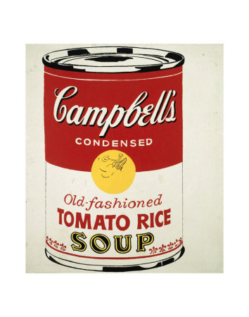 Campbell's Soup Can, c.1962 (Old Fashioned Tomato Rice) Art Print