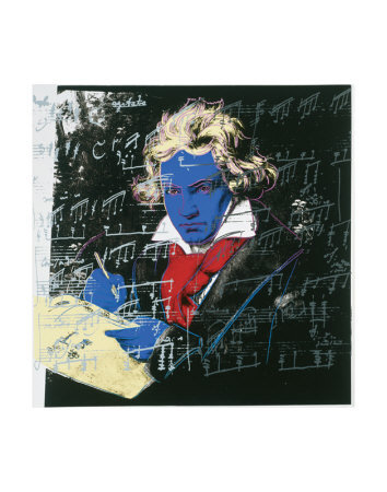 Beethoven, c.1987 (blue face) Reproduction d'art