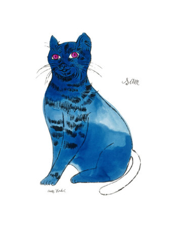 25 Cats Named Sam and One Blue Pussy by Andy Warhol, c.1954 (Blue Sam) Impressão artística