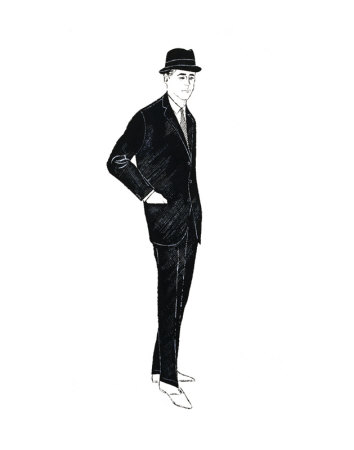Male Fashion Figure, c.1960 Art Print