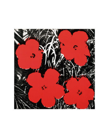 Flowers, c.1964 (Red) Art Print