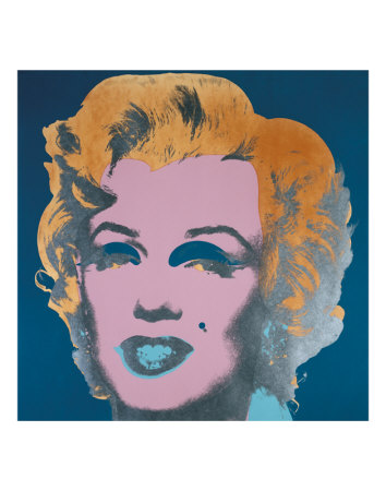 Marilyn, c.1967 (On Peacock Blue, Pink Face) Art Print