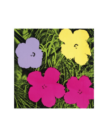 Flowers, c.1970 (1 Purple, c.1 Yellow, 2 Pink) Reproduction d'art
