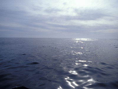 Calm Ocean with Small Ripples Reflects a Sunbeam Off the Surface, Australia Stampa fotografica di Edwards, Jason