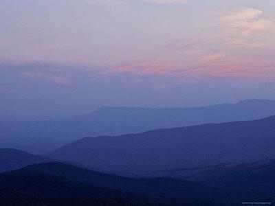 Blue Ridge Mountains at Dusk, Virginia Fotoprint av Kenneth Garrett