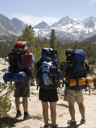 Backpackers on the Trail into the Sierras, California Photographic Print by Bill Hatcher