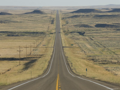 Desolate Road in Billings, Montana Photographic Print by Joel Sartore