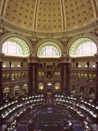 Interior of the Library of Congress, Washington, D.C. Fotoprint av Kenneth Garrett
