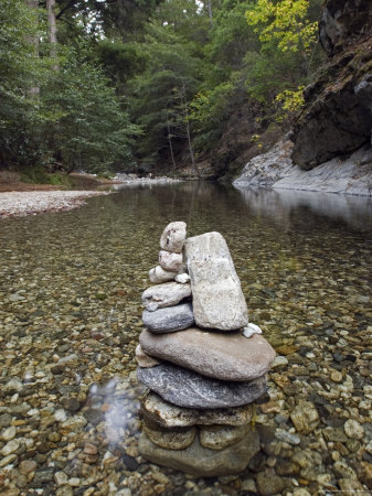 Low Clear Water on the Big Sur River at Sykes Hot Spring, California Photographic Print by Rich Reid